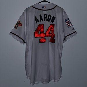 Hank Aaron Atlanta Braves Cooperstown Jersey NWOT